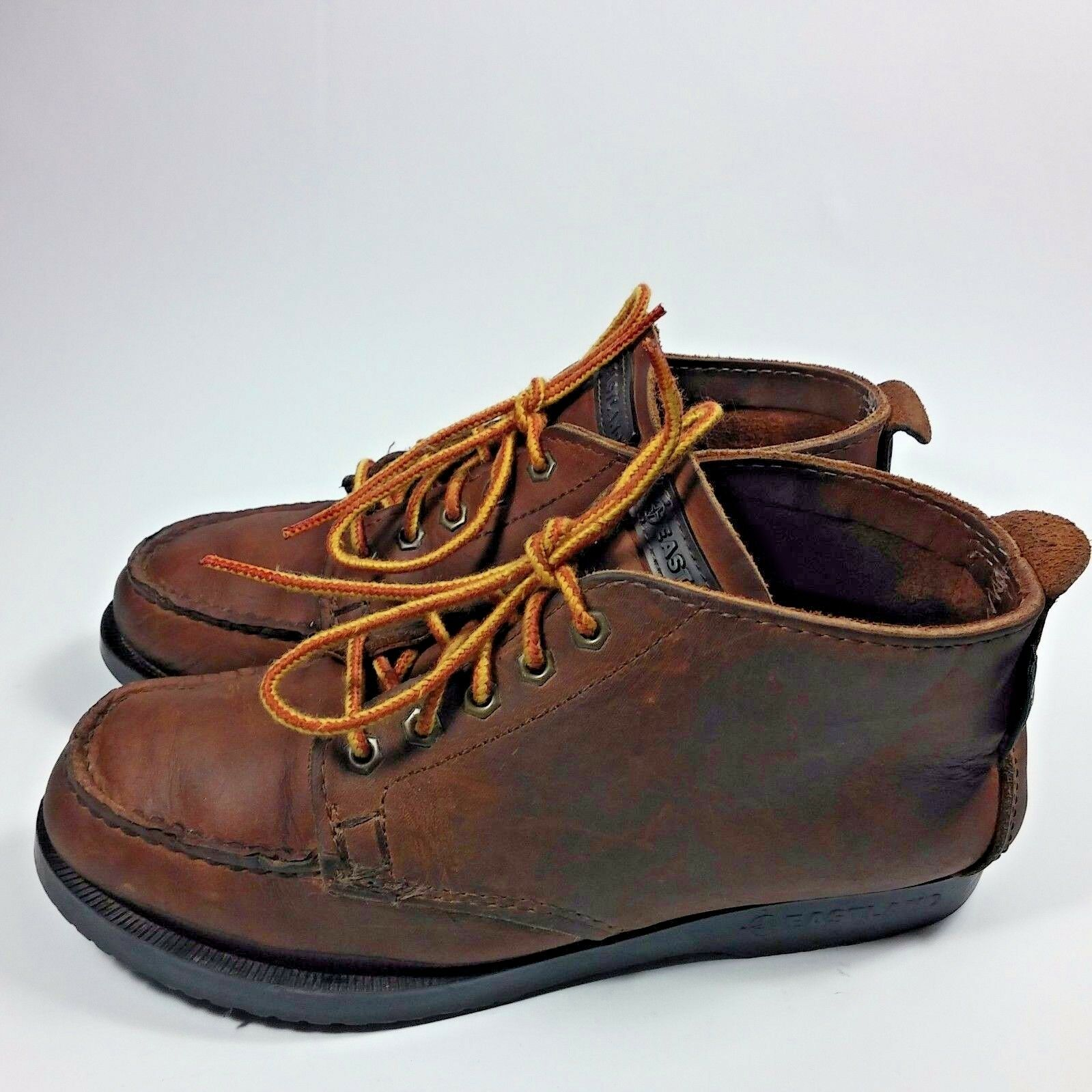 VINTAGE Women's Eastland USA Ankle Chukka Trail Hiking Moc Boots Brown Leather-7