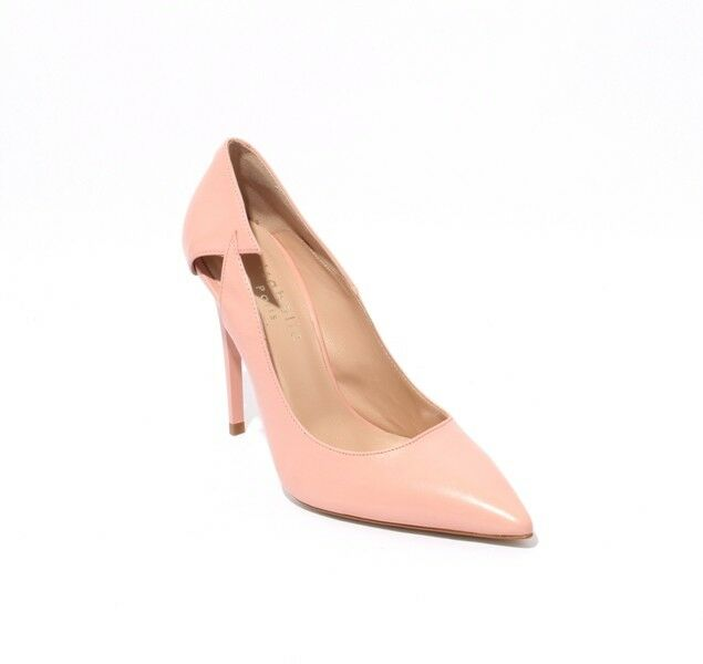 Isabelle 801r Baby Pink Leather Stiletto Heels Pointy Toe Pumps 39.5   US 9.5
