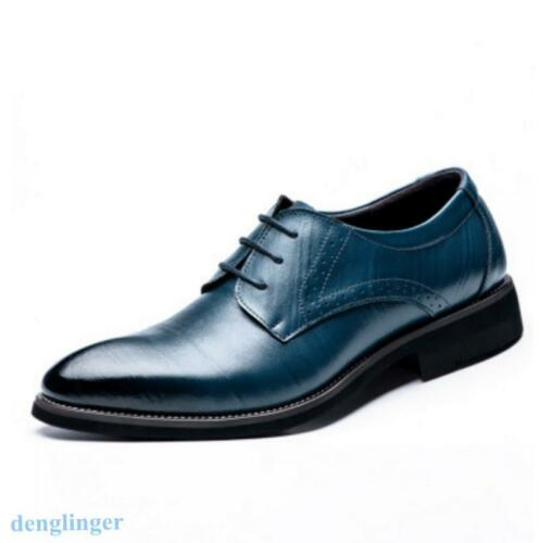 Mens Leather Lace Up Stylish Brogue Oxfords Formal Dress Business Shoes Leisure