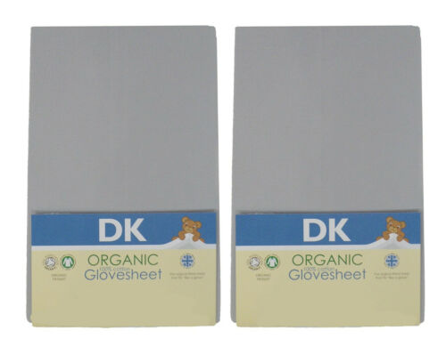 DK organic gots glovesheet chicco next2me /& lullago 2 fitted sheet grey 83x50cm