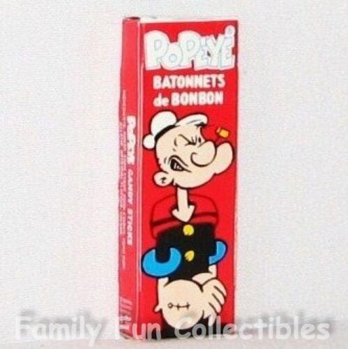 POPEYE /& OLIVE OYL~1992 World Candies~Candy Sticks~1 Box~English /& French~NEW