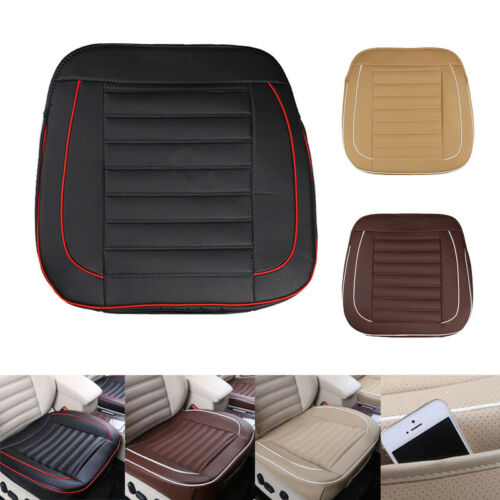 Universal Car Front Seat Cover PU Leather Breathable Chair Covers Protect Mat
