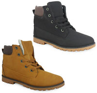 NEW WOMENS LADIES BLACK CAMEL ANKLE GRIP SOLE WARM LACE UP SHOE BOOT SIZE 3-8 UK