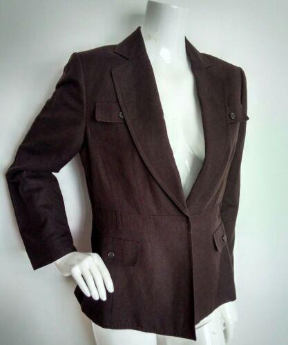 Linen New Size Blend S brand Arthur Tahari Brown Levine 14 Blazer 0qax8C