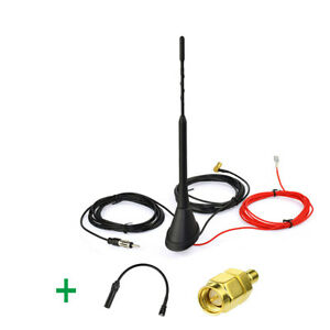 Amplified-DAB-DAB-car-radios-aerial-roof-mount-antenna-and-DAB-antenna-Adapter