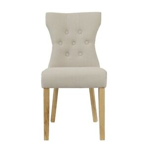 Image Is Loading Pair Of Lyon French Style Beige Dining Chairs