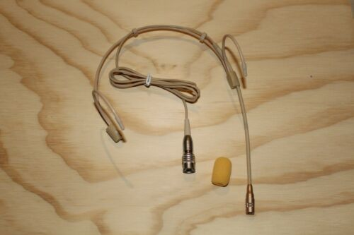 Headset Microphone w// 4 pin mini XLR Double Earhook for Audio Technica