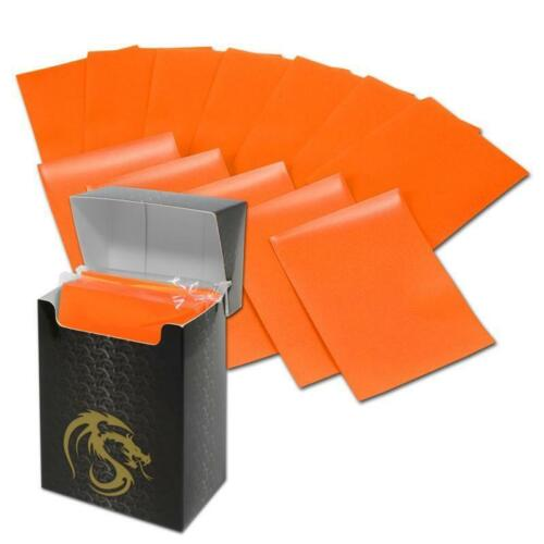 1 BOX OF 80 ORANGE BCW MATTE DECK GUARD MAGIC THE GATHERING MTG PROTECTOR