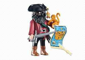 Playmobil-Piratas-Ref-6433-Capitan-Pirata-con-Mono-y-Mapa-Barco-Piratas-NUEVO