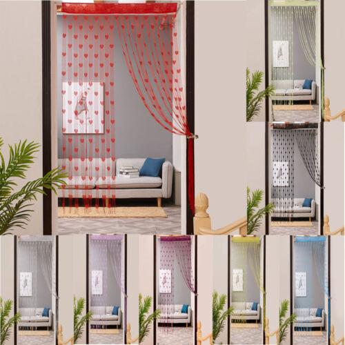 Floral Tulle 50*200cm Voile Door Window Curtain Drape Panel Sheer Valances