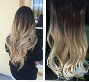 Ombre Brown Balayage Ash Blonde Clips In Remy Human Hair Extensions
