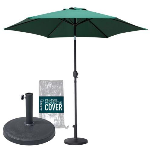 Jarder Oasis Parasol Set Base Cover Tilt Crank Outdoor Umbrella Garden Patio Kit