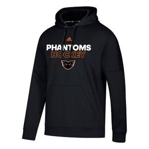 Lehigh-Valley-Phantoms-AHL-Adidas-Men-039-s-Black-Authentic-Ice-Climawarm-Hoodie