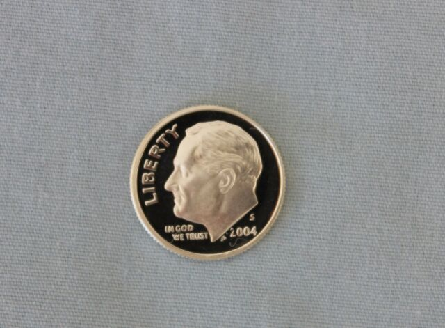 2004-S Roosevelt Silver Proof Dime Gem Cameo