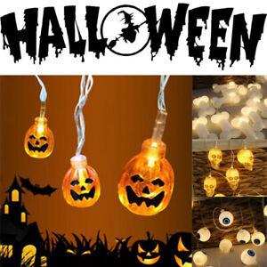 Halloween-Hada-Cadena-de-Luz-LED-Lampara-Bombilla-Decoracion-De-Calabaza-Esqueleto-Hueso-Globo