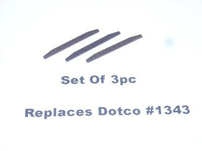 Replaces Part #1343 DOTCO Replacement Pencil Grinder Rotor Blades 3 Pc