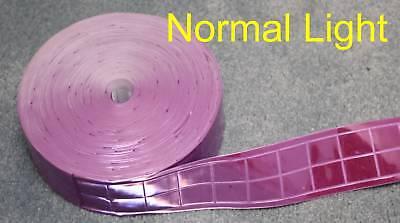 "Pink gloss sew on REFLECTIVE TAPE PVC 3/'x1/"""