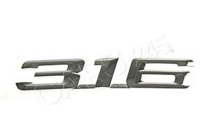 Genuine BMW E36 Trunk Lid Chrome 316 Emblem Badge Logo Sign OEM 51141977249