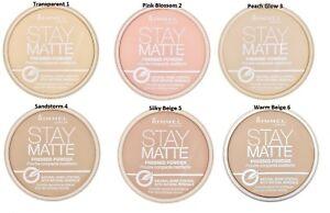 collection entière expédition gratuite beaucoup de styles Details about Rimmel Stay Matte Pressed Powder Long Lasting 6 shades *FREE  1ST CLASS P&P*