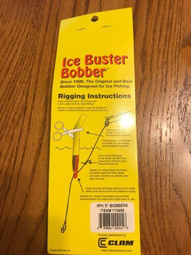 """Jig Ships N 24 ICE BUSTER BOBBER THE ORIGINAL 5"""" Bobber Holds A 1//4oz"""