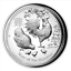 Australia 2017 Year Rooster Lunar $1 1 Oz Silver High Relief Prf in Full OGP