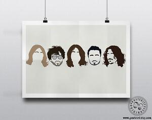 Minimalist Band Poster Silhouette Music Heads Minimal Wall Art Charle BLOSSOMS