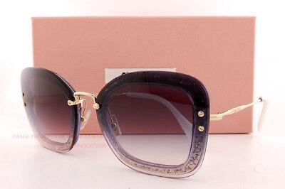 Sonnenbrillen Herzhaft Brandneu Miu Sonnenbrille Mu 02t 02ts 86l Nj0 Dunkelviolett/glitzer/ Grau Damen Damen-accessoires