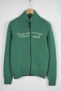 WOOLRICH-Men-039-s-MEDIUM-Wool-Blend-Knitted-Full-Zip-Sweater-28283-JS