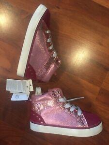 SZ 8 9 BABY GAP Kids Pink Glitter High