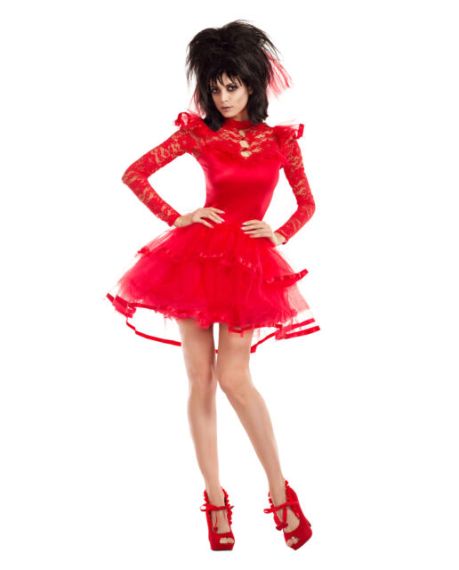 Adult Women S Beetlejuice Lydia Deetz Bridal Outfit Halloween Costume Goth Dress For Sale Online