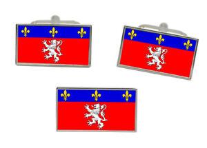 Lyon (frankreich) Flagge Manschettenknopf Und Krawatte Nadel Set