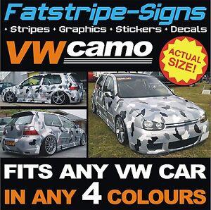 Details about VW GOLF CAR CAMO KIT VINYL GRAPHICS STICKERS DECALS BONNET  ROOF VOLKSWAGEN GTI 1