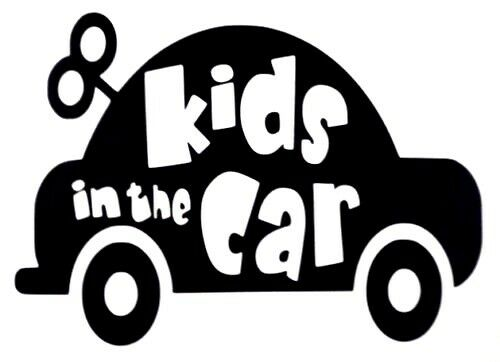 Kids in the Car on Board Funny Car Truck Window Vinyl Decal Sticker 12 Colors