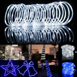Details about 39ft 100leds solar rope tube fairy lights led string waterproof outdoor garden image is loading 39ft 100leds solar rope tube fairy lights led aloadofball Image collections