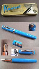 # Kaweco Estudiante Soporte relleno en retro azul nuevo en caja #