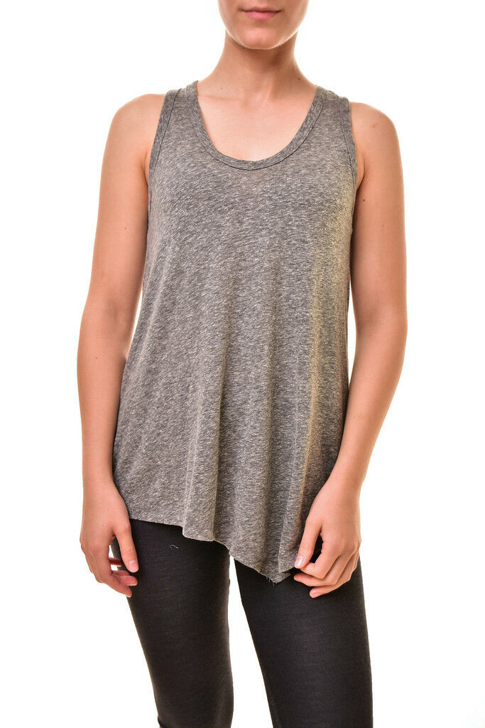 Sundry Woherren Asymmetric Hem Sleeveless Tank Heather grau S