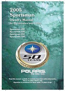 Polaris Owners Manual Book 2005 Sportsman 400