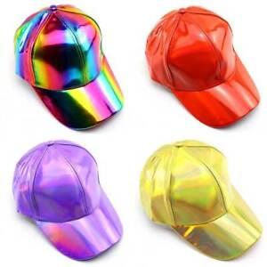 7b0fc34812ae66 Shiny Holographic Baseball Cap Women Hip-Hop Bboy Snapback Hat Sport ...