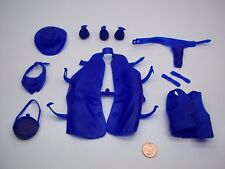 Marx (BLUE COLOR ACCESSORY LOT)  Johnny West Best Of The West Custer Cobra Horse