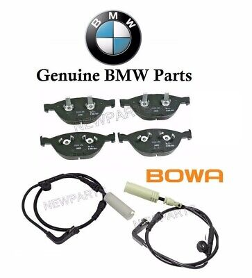 BMW E71 F15 F16 X5 X6 14-16 Front Disc Brake Pads with Sensor Kit Brembo Bowa