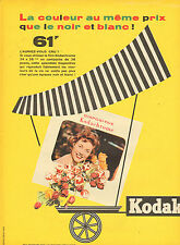 Publicité Advertising 1956  Kodak DIAPOSITIVE Kodachrome