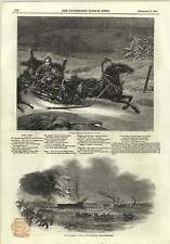 1845 A Russian Family Attacked By Wolves Henry Ablaze Off Blackwall