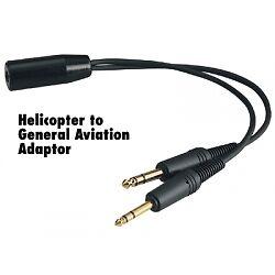 Helicopter U174 Headset To General Aviation Adapter David Clark Avcomm Softcomm Ebay
