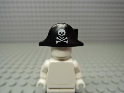 Lego 2 x Piratenhut schwarz 2528pb01 kleiner Totenkopf