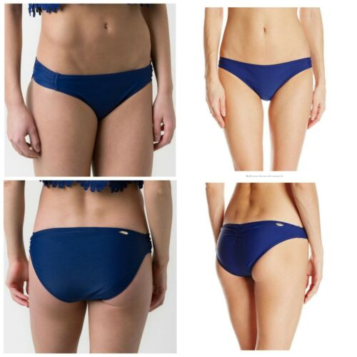 Jessica Simpson Women/'s Swim Bottom Marine Blue Stretch L Large Shirred Bikini