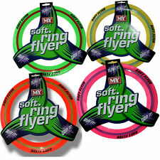 COLOURED FLYING RING FRISBEE DISC DOG PUPPY PET TOY TRAINING RECALL AID OUTDOOR