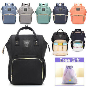 Waterproof Large Mummy Nappy Diaper Bag Baby Travel Changing Nursing Backpack