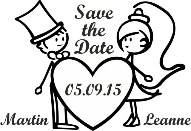 PERSONALISED SAVE THE DATE RUBBER STAMP 11622 WEDDING ANNIVERSARY CELEBRATION