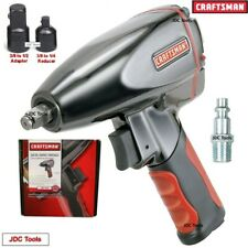 Craftsman 38 Drive Air Impact Wrench W 12 And 14 Adapters 3 Tools In 1