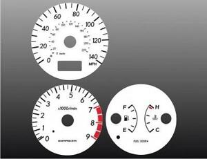 Fits 2002-2003 Subaru Impreza WRX Dash Cluster White Face Gauges 02-03